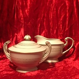 Fine Japanese SONE CHINA Creamer & Sugar Bowl Set